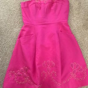 Pink strapless Lilly Pulitzer Size 2